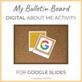 Distance Learning About Me: Fun Bulletin Board Activity fo