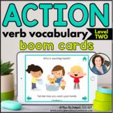 Action Verb Vocabulary (Level 2) | BOOM CARDS™