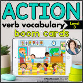 Action Verb Vocabulary (Level 3 Scenes) | BOOM CARDS™