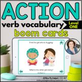 Action Verb Vocabulary (Level 1) | BOOM CARDS™