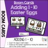 Distance Learning: Adding 1-10 Easter Eggs BOOM CARDS