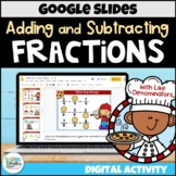 Adding and Subtracting Like Fractions for Google Classroom | Distance Learning