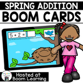 Distance Learning- Addition to 10 Spring Boom Cards Deck