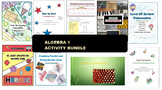 Distance Learning Algebra 1 Review Back to School Activity Bundle