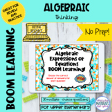 DISTANCE LEARNING Algebraic Reasoning Boom Learning℠ Quiz