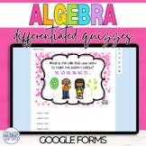 Google Classroom DISTANCE LEARNING Algebraic Reasoning Quizzes