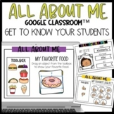 Distance Learning: All About Me Google Slides or Google Classroom