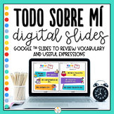 Distance Learning - All About Me in Spanish - Todo Sobre M