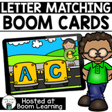 Distance Learning- Alphabet Letter Matching Boom Cards Boom Deck