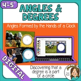 Distance Learning Angles and Degrees on a Clock Google Slides