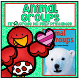 Distance Learning Animal Groups First Grade NO PREP Supple