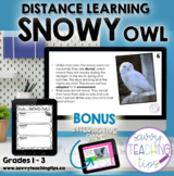 Distance Learning Animal Research  the SNOWY OWL