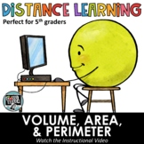 Distance Learning - Area, Perimeter, & Volume Word Problem
