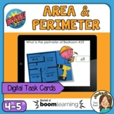 Distance Learning Area and Perimeter Boom Cards Digital Ta