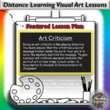 Distance Learning Art Criticism Visual Art Lesson Plan