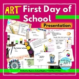 Distance Learning: Art-First Day of School Google Slides P