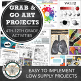Distance Learning Art Grab & Go Projects for Middle School
