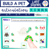 Distance Learning: Build-a-Pet Articulation BOOM Cards™️ - Late Sounds