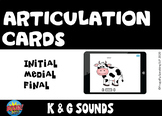 Distance Learning No Print Speech Therapy Articulation Cards K & G Boom Cards™