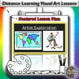 Distance Learning Artist Exploration & Art Criticism Visua