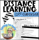 Distance Learning Assignments Checklist