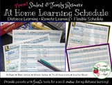 Distance Learning: At Home Learning Schedules