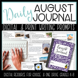 August Daily Warm Up Bell Ringer Writing Monthly Journal P