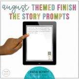 Distance Learning | August Story Starters | Writing Prompts