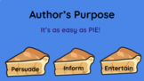 Distance Learning: Author's Purpose lesson for Google Slid