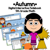 Distance Learning Autumn 5th Grade Interactive Notebook Go