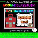 BACK TO SCHOOL SCAVENGER HUNT Google Classroom/Meet