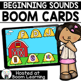 Distance Learning- BEGINNING SOUND MATCHING Boom Cards Boom Deck