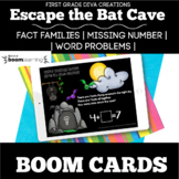 BOOM CARDS | Digital Bat Cave Escape Room | Word Problems