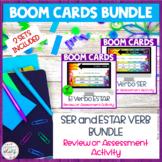 Distance Learning Spanish SER and ESTAR BOOM CARDS BUNDLE