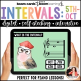 Distance Learning Music Intervals BOOM Cards: 5ths, 6ths,