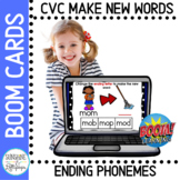 BOOM™ Cards CVC Change Ending Sounds to Make New Words