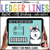 Distance Learning BOOM Cards: Ledger Lines