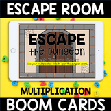 Distance Learning BOOM Cards Multiplication Facts ESCAPE ROOM