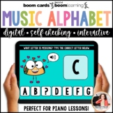 Distance Learning BOOM Cards: Music Alphabet Activities to