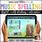 Distance Learning BOOM Cards: Music Spelling Words on the