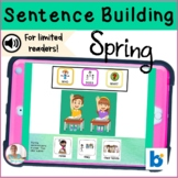 BOOM Cards | Digital Speech Therapy | Sentence Building | Spring