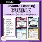 Distance Learning BUNDLE FRENCH || 6 semaines d'activités