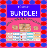 Distance Learning BUNDLE!  French Word Wall & Flashcards