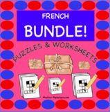 Distance Learning BUNDLE! French PUZZLES & WORKSHEETS | Cr