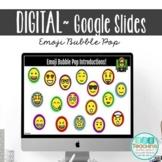 Distance Learning Back to School Editable Emoji Introducti