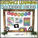 Distance Learning Backdrop Decor