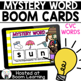 Distance Learning- Mystery CVC Short Vowel Word Boom Cards Deck
