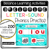Distance Learning: Beginning Sound Phonics Practice - Inte