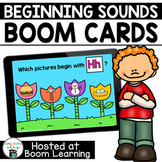 Distance Learning- Beginning Sounds Spring Boom Cards Deck