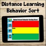 Distance Learning Behavior Sort